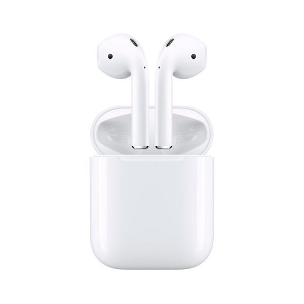 Apple airpods mmef2zm/a auriculares inalámbricos de alta calidad acceso directo a siri chip w1 más de 24 horas de autonomía para iphone ipad e ipod