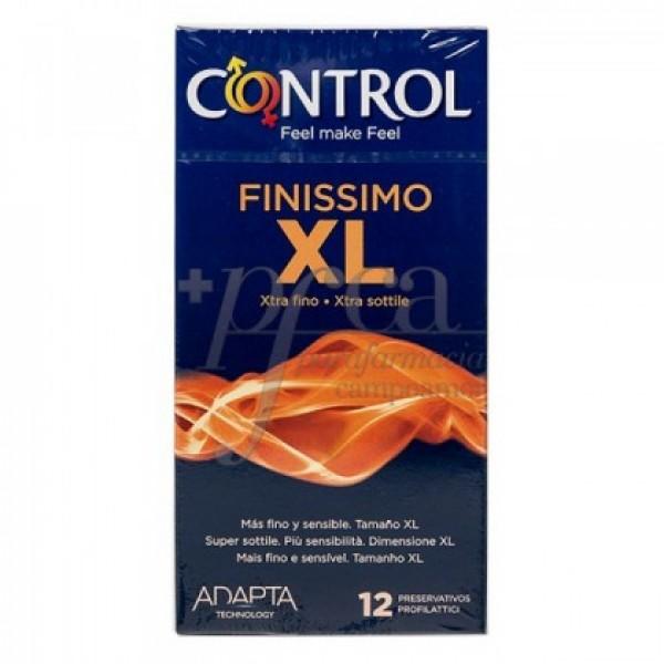 CONTROL FINISSIMO XL PRESERVATIVOS 12 U