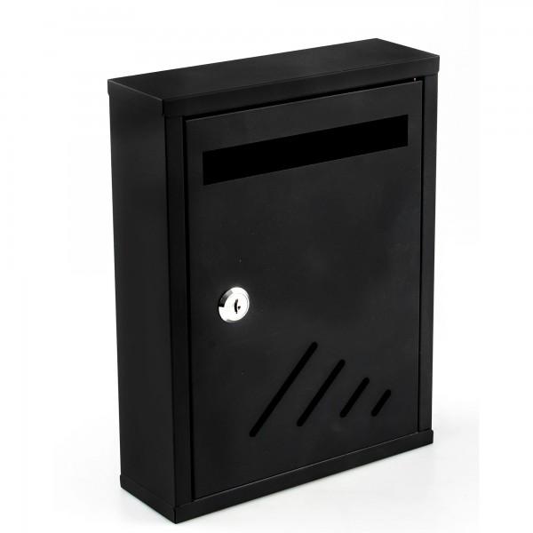 Buzon metalico interior 27x20 negro