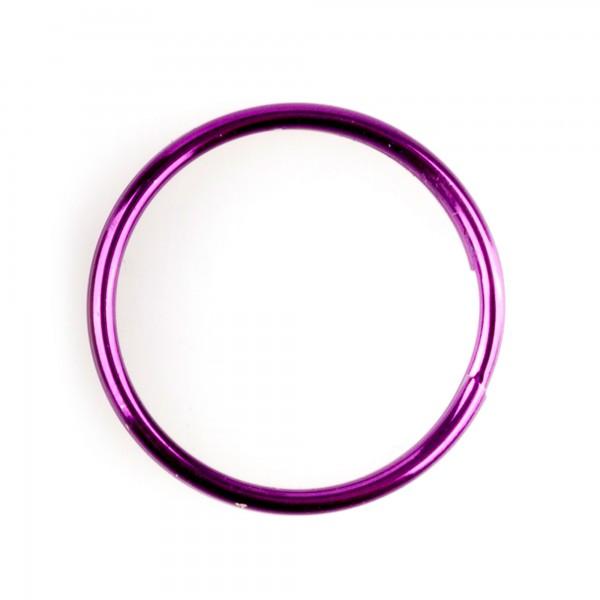 Llavero acero niquelado 28 mm.(100)color