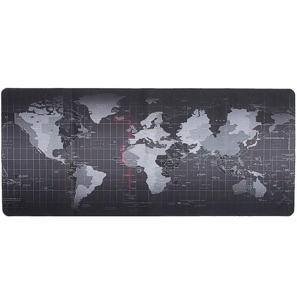 Subblim world xl mousepad negro alfombrilla ratón 90x40cm diseño mapa mundi