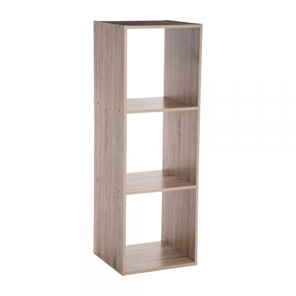 Estanteria madera para 3 cajas organizadoras 34,4x32x100,5cm