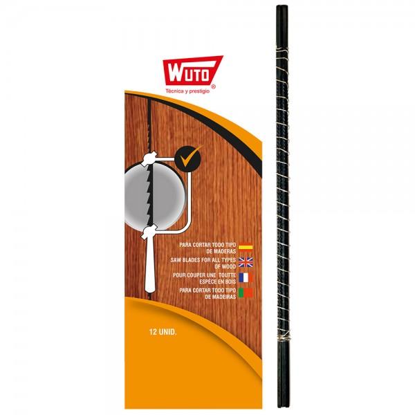 Sierra marqueteria madera 2/13cm 30tpi blister 12 sierras wuto