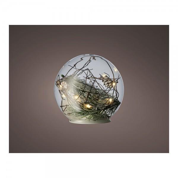 Bola  microled con decoracion ø18cm 15l